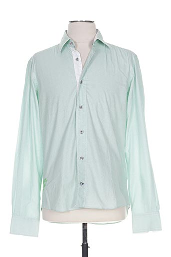 Chemise manches longues vert CAMBE pour homme