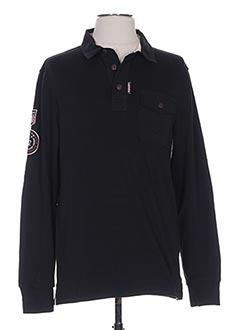 T-shirt manches longues noir CAMBE pour homme