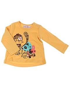 T-shirt manches longues jaune BOBOLI pour fille