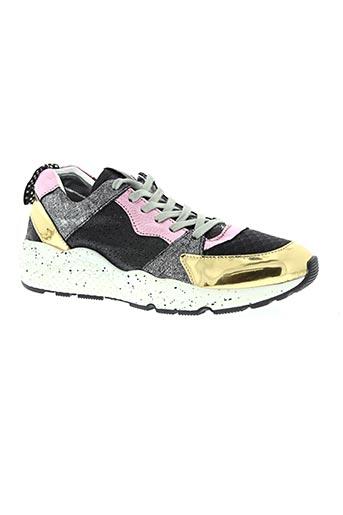 p448 chaussures femme de couleur noir