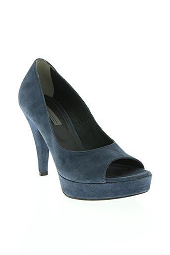 vic chaussures femme de couleur bleu
