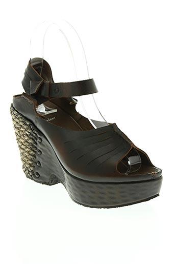 bkr chaussures femme de couleur marron