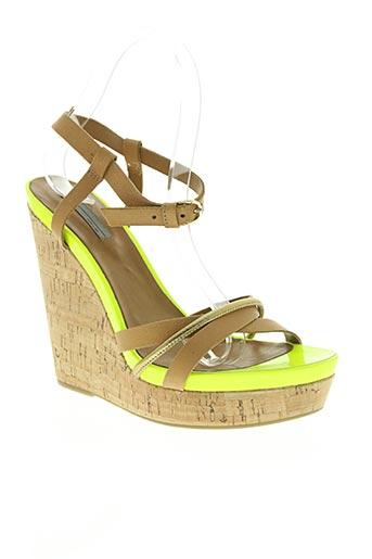 vic chaussures femme de couleur jaune