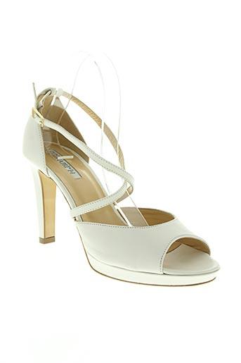 donna piu chaussures femme de couleur blanc