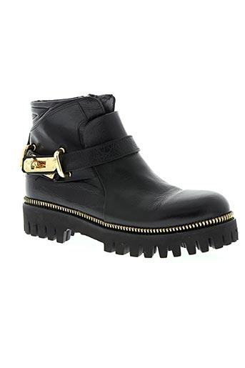 area forte chaussures femme de couleur noir