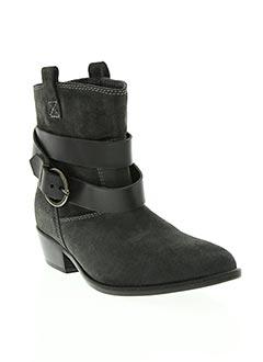 Bottines/Boots gris GAIA D'ESTE pour femme