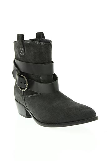 gaia d'este chaussures femme de couleur gris