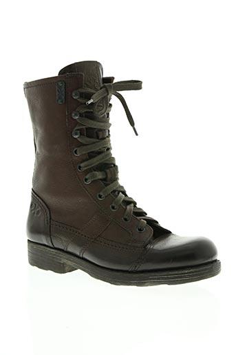 o.x.s chaussures femme de couleur marron