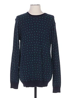 Pull col rond bleu SCOTCH & SODA pour homme