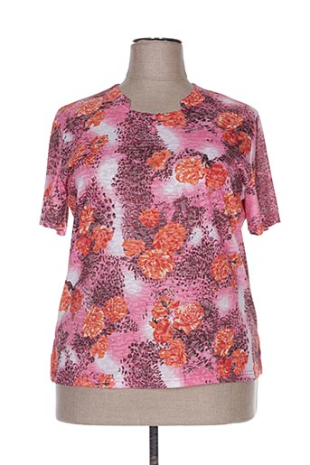 T-shirt manches courtes rose DELUXE STARS pour femme
