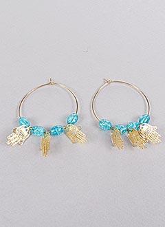 Boucles d'oreilles bleu INEL pour femme