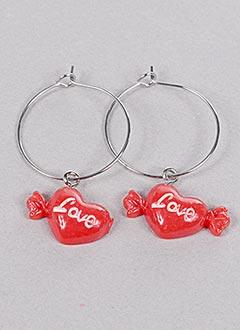 Boucles d'oreilles rouge INEL pour femme