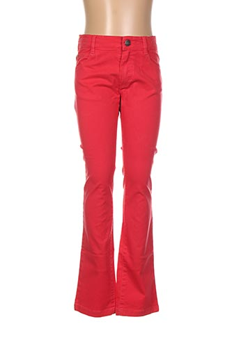 Jeans coupe droite rouge MARESE pour fille