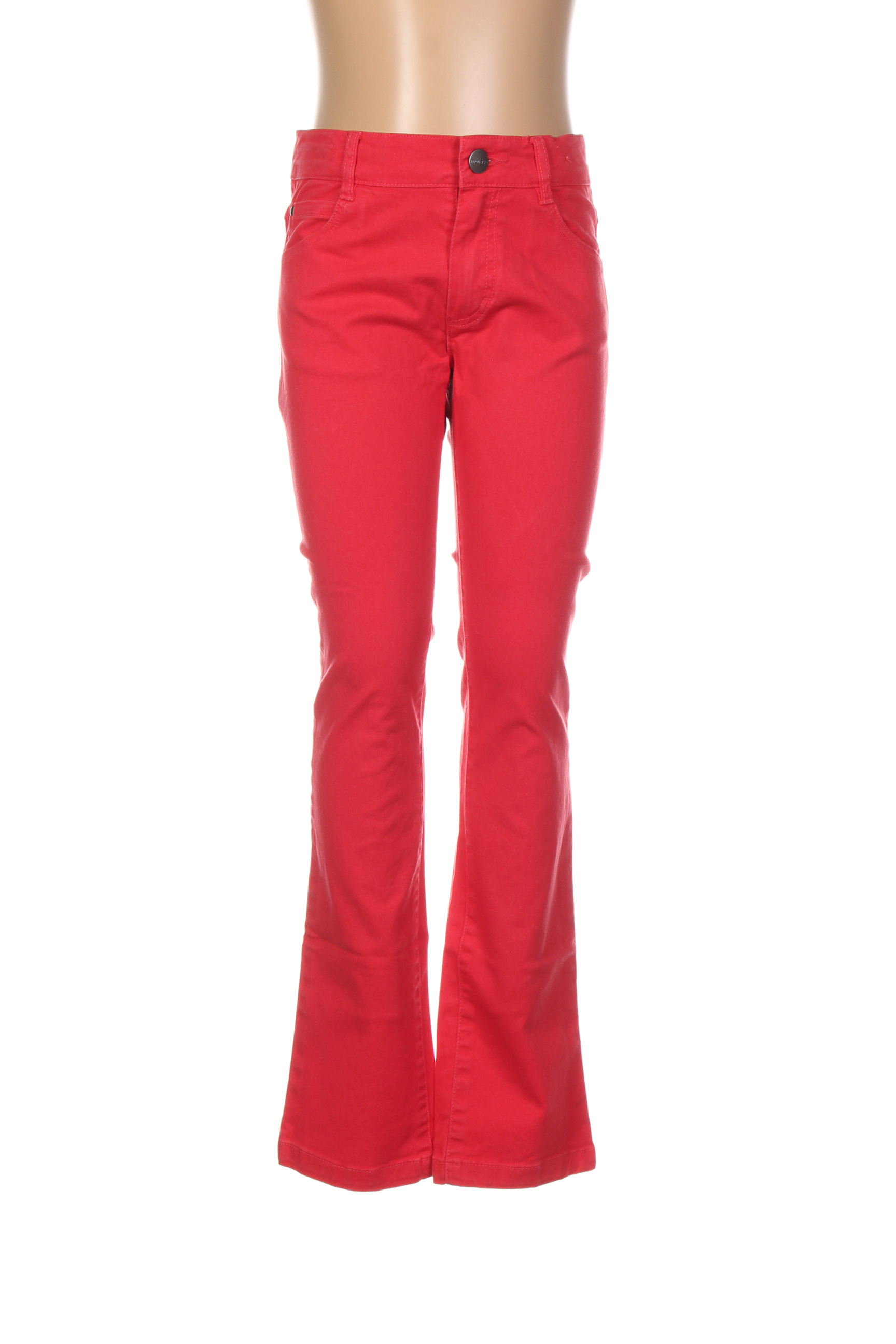 Jeans coupe droite fille Marese rouge taille : 4 A 23 FR (FR)