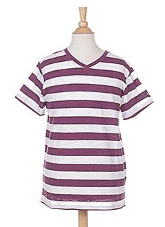 T-shirt manches courtes violet MARESE pour garçon