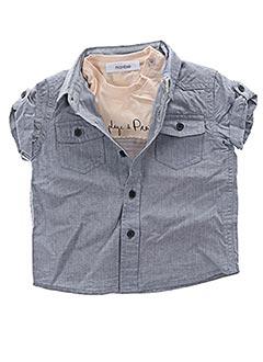 Chemise manches courtes gris MARESE pour garçon