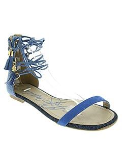 Sandales/Nu pieds bleu CARMEN STEFFENS pour femme