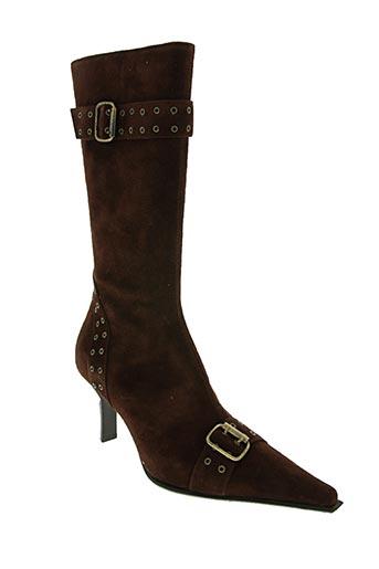 emmanuelle khanh chaussures femme de couleur marron