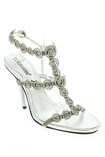 Sandales/Nu pieds gris ENRICO LUGANI pour femme