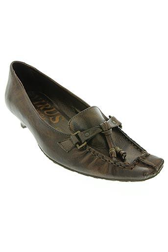 virus moda chaussures femme de couleur marron