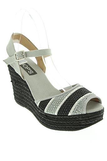 hop's... chaussures femme de couleur gris