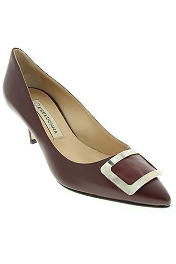 essedonna chaussures femme de couleur rouge
