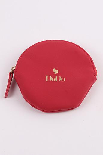 Porte-monnaie rouge DODO pour femme