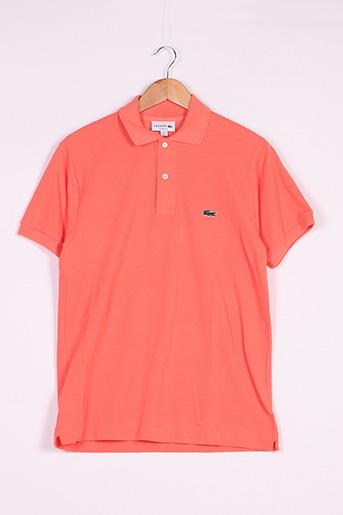 Polo manches courtes orange LACOSTE pour femme