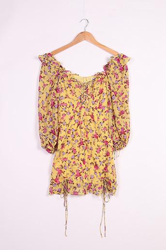 Robe courte jaune FOR LOVE & LEMONS pour femme