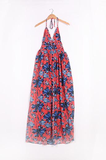 Robe longue rose BOOHOO pour femme