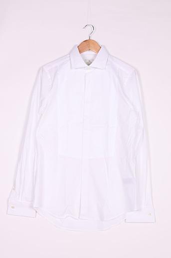 Chemise manches longues blanc GANT pour homme