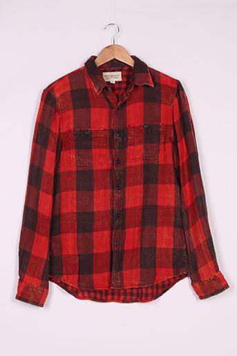 Chemise manches longues rouge RALPH LAUREN pour homme