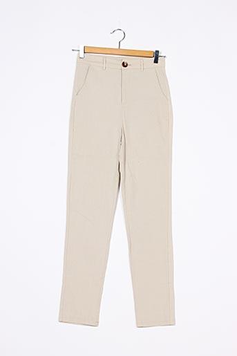 Pantalon casual beige NASTY GAL pour femme