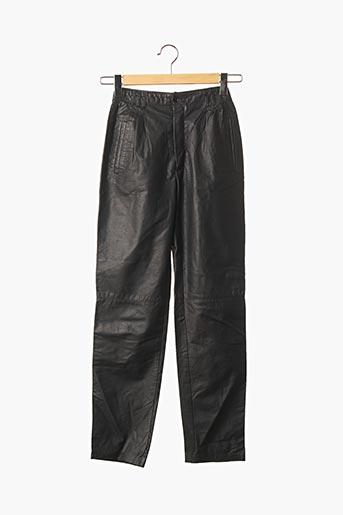 Pantalon casual noir ECHTES LEDER pour femme