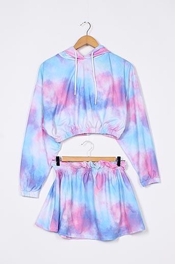 Top/jupe bleu BOOHOO pour femme