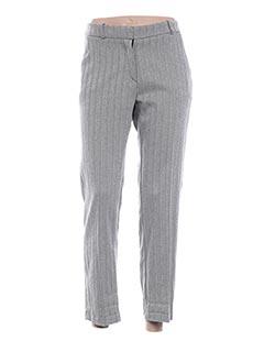 Pantalon 7/8 gris ANGELA DAVIS pour femme