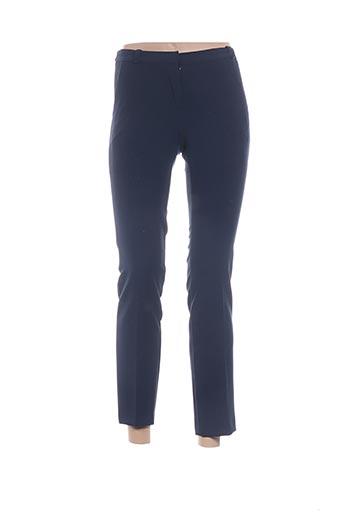 Pantalon 7/8 bleu ANGELA DAVIS pour femme