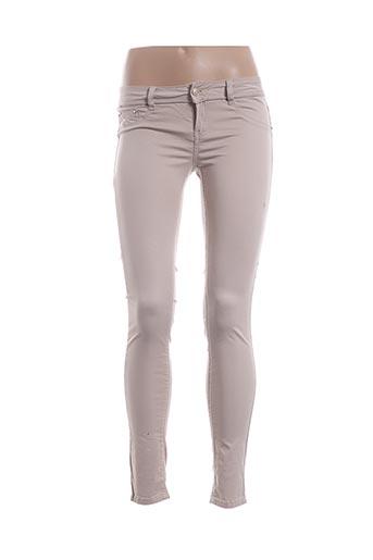 Pantalon casual beige ARTIGLI pour femme