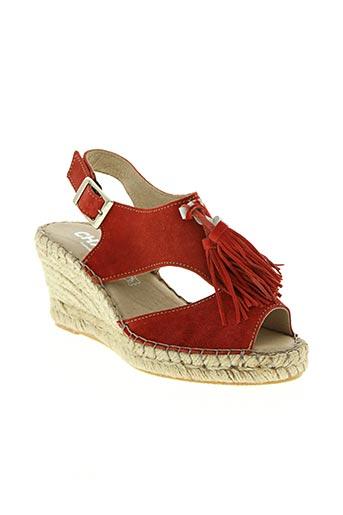 chacal chaussures femme de couleur rouge