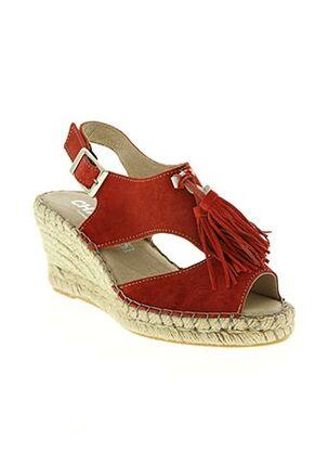 Sandales/Nu pieds rouge CHACAL pour femme