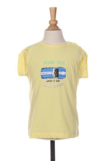 T-shirt manches courtes jaune 3 POMMES pour garçon