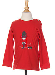 T-shirt manches longues rouge ABSORBA pour garçon seconde vue