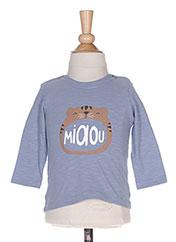 T-shirt manches longues bleu ABSORBA pour garçon seconde vue