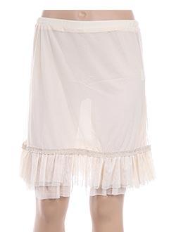 Jupe courte beige L33 pour femme