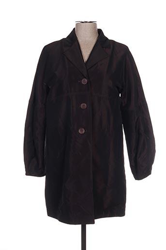 Manteau long marron ARMAND VENTILO pour femme