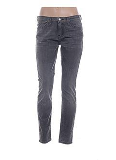 Jeans coupe slim gris CURRENTE/ELLIOTT pour femme