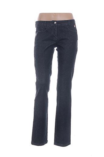 Jeans coupe droite bleu CARACTERE pour femme