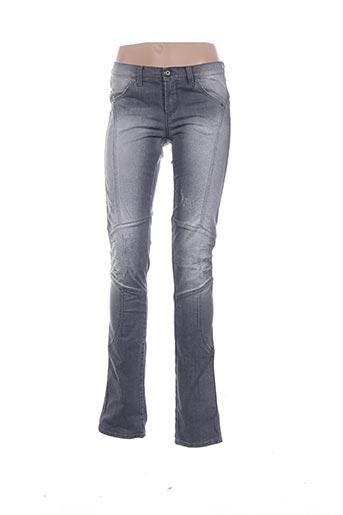 Jeans coupe slim gris ERMANNO SCERVINO pour femme