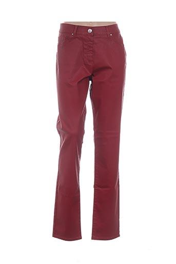 Pantalon casual rouge IBER JEANS pour femme