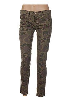 Pantalon casual vert CURRENTE/ELLIOTT pour femme